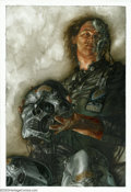 Original Comic Art:Sketches, Dave Dorman - Original Illustration Art for Aliens: Tribes (Dark Horse, 1992). Another of the twenty four paintings Dave Dor...