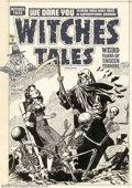 Original Comic Art:Covers, Lee Elias - Original Cover Art for Witches Tales #8 (Harvey, 1952).Outstanding Lee Elias horror cover from this classic Har...