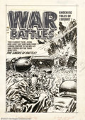 Original Comic Art:Covers, Lee Elias - Original Cover Art for War Battles #7 (Harvey, 1952). Astogie-chomping hard-bitten Sarge takes out a Russian su...