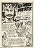 "Original Comic Art:Splash Pages, Vernon Henkel - Original Art for Wow Comics (1940s). Outstanding""Heroes of History"" page by Vernon Henkel, this one spotlig..."
