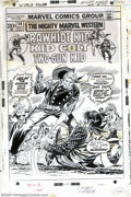 Original Comic Art:Covers, Larry Lieber and Mike Espositio - Original Cover Art for MightyMarvel Western #24 (Marvel, 1973). While we find it a bit od...