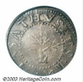 1652 SHILNG Oak Tree Shilling VF35 PCGS. Noe-13.9. 71.7 grains. This late die state is very close to Noe-14, just a few...