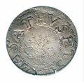 1652 SHILNG Oak Tree Shilling AU53 PCGS. Noe-5, Crosby 2-D, R.2. 73.3 grains. A bit off center on the obverse, as usuall...
