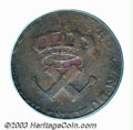 Colonials: , 1722/21-H 9DEN French Colonies Copper Sou VF25 PCGS. ...
