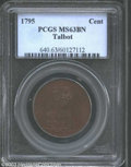 Colonials: , 1795 1C Talbot Allum & Lee Cent MS63 Brown PCGS. Breen-...
