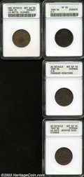 1800 1/2 C Half Cent VF30 ANACS, C-1, rich steel-brown surfaces with a few trivial marks about the denomination; 1809 Ha...
