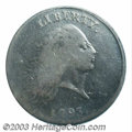 1793 Chain 1C Periods VG10 PCGS. S-4, High R.3. Easily attributed as an S-4 by AMERICA being fully spelled out on the re...