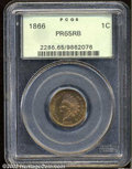 Proof Indian Cents: , 1866 1C PR65 Red and Brown PCGS. The variegated ruby-red ...