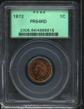 Proof Indian Cents: , 1872 1C PR64 Red PCGS. Deeply mirrored fields with a ...
