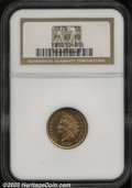 Proof Indian Cents: , 1878 1C PR65 Red NGC. Sharply impressed with highly ...
