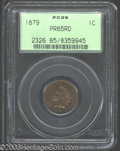 Proof Indian Cents: , 1879 1C PR65 Red PCGS. Fully struck and seemingly blemish-...