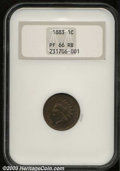 Proof Indian Cents: , 1883 1C PR66 Red and Brown NGC. Fully struck and ...