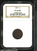 Proof Indian Cents: , 1885 1C PR66 Red and Brown NGC. Richly toned in apple-...