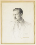 Autographs:Artists, Original Signed Sketch of Ernest Hemingway for the Dust Jacket of the First Edition of The Sun Also Rises. This is the o... (Total: 2 )