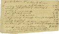 "Autographs:U.S. Presidents, Document Signed by Andrew Jackson Listing the Fine Fabrics Used forHis Family's Wardrobe A manuscript receipt made out to ""..."