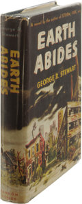 Books:First Editions, George R. Stewart: Earth Abides. (New York: Random House,1949, first edition, 373 pages, blue cloth with silver titles,...