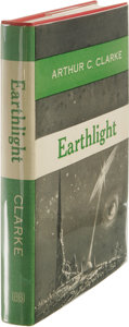 Books:First Editions, Arthur C. Clarke: Earthlight. (New York: Ballantine Books,1955), first edition, 186 pages, red cloth with blue titles, ...