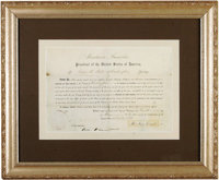 """Abraham Lincoln Document Signed, partially printed, one page, sight size 14.75"""" x 9.75"""", Washington, D.C., May..."""