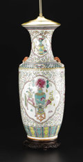 Ceramics & Porcelain, A Chinese Porcelain Vase. . Unknown maker, Chinese. 20th century. Porcelain with polychrome enamel and gilt decoration. Unma...