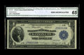 Fr. 737 $1 1918 Federal Reserve Bank Note CGA Gem Uncirculated 65. A well centered Gem with sharp corners and excellent...