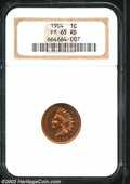 Proof Indian Cents: , 1904 1C PR65 Red NGC. Razor-sharp and seemingly pristine, ...