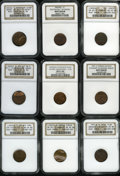 Errors, Nine NGC-Certified Lincoln Cent Mint Errors.... (Total: 9 coins)