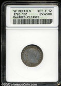 Early Dimes: , 1796 10C --Damaged, Cleaned--ANACS. VF Details, Net Fine 12.
