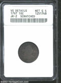 Early Dimes: , 1797 10C 13 Stars--Scratched--ANACS. VG Details, Net Good 4....