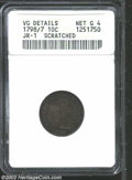 Early Dimes: , 1798/7 10C 16 Stars on Reverse--Scratched--ANACS. VG ...