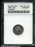 Barber Dimes: , 1895 10C --Cleaned--ANACS. AU Details, Net XF40. The ...