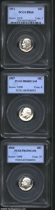 Proof Roosevelt Dimes: , 1951 10C PR68 PCGS, nearly flawless, untoned mirrors with ... (3Coins)