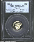 Proof Roosevelt Dimes: , 1979-S 10C Type Two PR70 Deep Cameo PCGS. The clear S ...