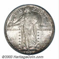 Standing Liberty Quarters: , 1921 25C MS66 Full Head PCGS. Fully struck with dappled ...