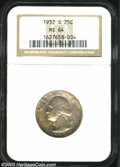 Washington Quarters: , 1932-S 25C MS64 NGC. Lightly toned in splashes and specks ...