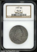 Early Half Dollars: , 1795 50C VG10 NGC. O-124, R.5. Star 15 is attached to the ...