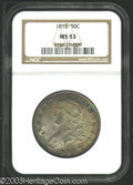 Bust Half Dollars: , 1812 50C MS63 NGC. O-104, R.1. The obverse has peripheral ...