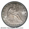 Seated Half Dollars: , 1855-O 50C Arrows MS65 PCGS. Very well struck for this ...