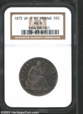 Seated Half Dollars: , 1873 50C Open 3 VG8 NGC. A rarely offered Seated Liberty ...