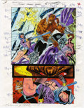 Original Comic Art:Miscellaneous, Mike Dubisch - Cosmic Powers #5, page 36 Color Guide Production Art(Marvel, 1994).. ...