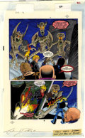 Original Comic Art:Miscellaneous, Mike Dubisch - Crossroads #2, page 30 Color Guide Production Art (First, 1988).. ...