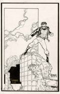 Original Comic Art:Splash Pages, Georges Jeanty - Team Superman #1 Superboy Pin-Up Original Art (DC,1998). ...