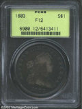 Early Dollars: , 1803 $1 Large 3 Fine 12 PCGS. B-6, BB-255, R.1. The sole ...