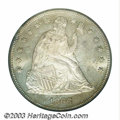 Seated Dollars: , 1866 $1 Motto MS64 PCGS. The date is lightly recut. The ...