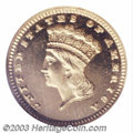 Proof Gold Dollars: , 1882 G$1 PR66 Ultra Cameo NGC. A bright, wonderfully ...