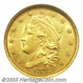 Early Quarter Eagles: , 1832 $2 1/2 MS62 NGC. Of the 4,400 pieces produced of ...