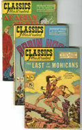 Golden Age (1938-1955):Classics Illustrated, Classics Illustrated Group (Gilberton, 1942-47) Condition: AverageVG+.... (Total: 9 Comic Books)