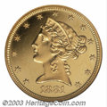 Proof Liberty Half Eagles: , 1881 $5 PR63 Cameo ANACS. An elusive early Half Eagle ...