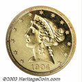 Proof Liberty Half Eagles: , 1904 $5 PR60 ANACS. A sharply struck specimen that has ...