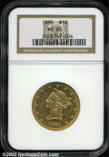Liberty Eagles: , 1885 $10 MS62 NGC. Boldly struck with dazzling prooflike ...