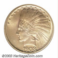 Indian Eagles: , 1908 $10 No Motto MS64 NGC. Lustrous and sharply struck ...